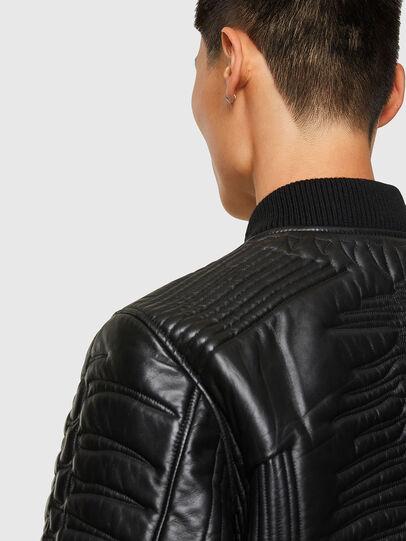 Diesel - L-FUTURE, Black - Leather jackets - Image 4