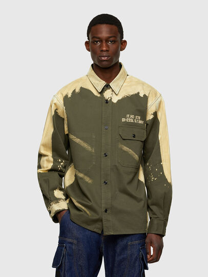 Diesel - S-BUNNELL, Olive Green - Shirts - Image 1