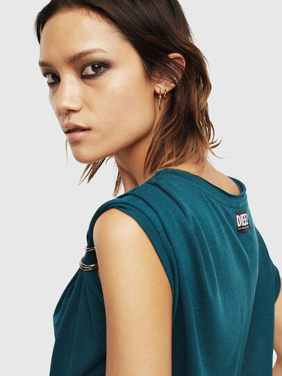 Diesel - T-SALEM, Dark Green - Tops - Image 5