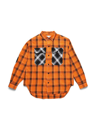 Diesel - D-ANORACHECK, Orange - Shirts - Image 1