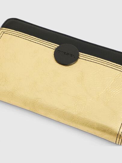 Diesel - GRANATO LC, Gold/Black - Zip-Round Wallets - Image 4