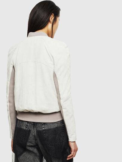 Diesel - L-CERITE, White - Leather jackets - Image 2