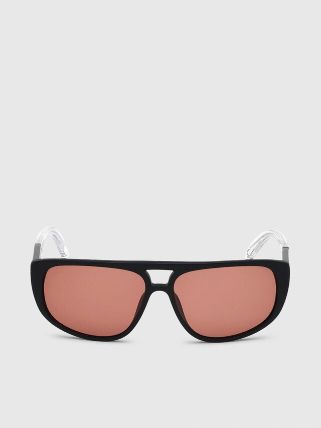 Diesel - DL0300, Black/White - Sunglasses - Image 1