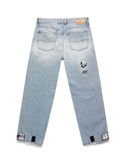 Diesel - D-DEEPCHECKDENIM, Light Blue - Pants - Image 2