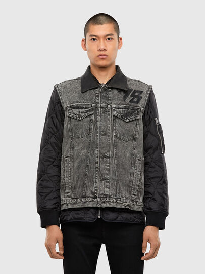 Diesel - D-DESTROY-SP, Grey/Black - Winter Jackets - Image 1