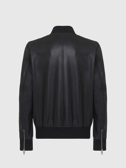 Diesel - L-JOSEPH, Black - Leather jackets - Image 2