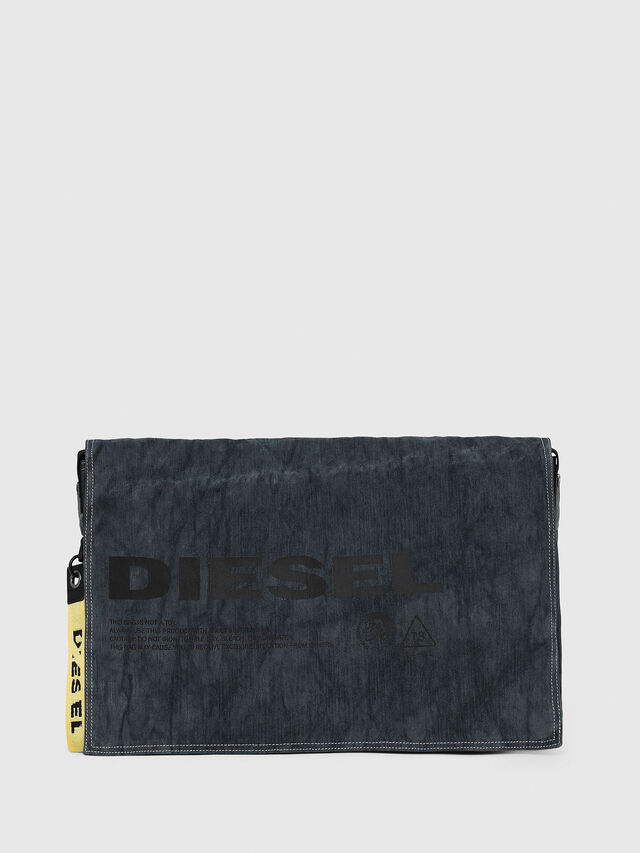 Diesel - D-THISBAG MESSENGER, Blue Jeans - Crossbody Bags - Image 1