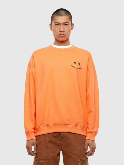 Diesel - S-MART-FLU, Orange - Sweaters - Image 1