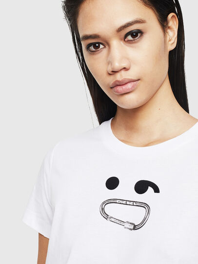 Diesel - T-SILY-S8, White - T-Shirts - Image 3