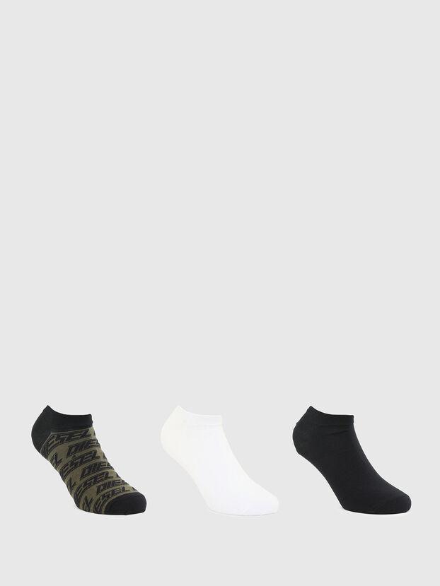 SKM-GOST-THREEPACK, Black/Green - Socks