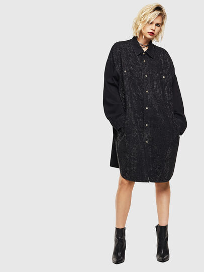 Diesel - DE-OBAX-SX, Black/Dark grey - Dresses - Image 1