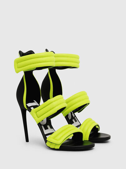 Diesel - SA-SLANTY HST, Yellow Fluo - Sandals - Image 2