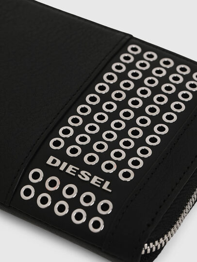 Diesel - 24 ZIP, Black - Zip-Round Wallets - Image 5