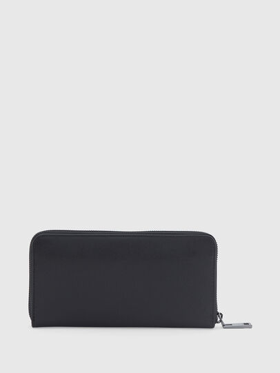 Diesel - 24 ZIP LOOP, Black - Zip-Round Wallets - Image 2