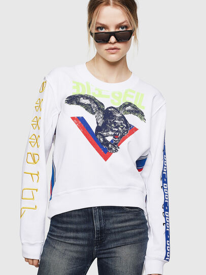 Diesel - F-LYANYDY, White - Sweaters - Image 1