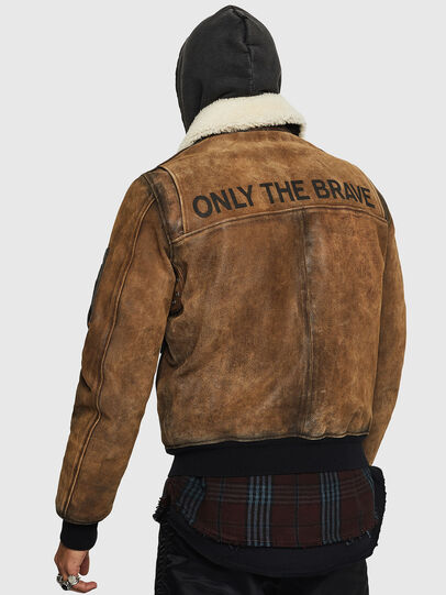 Diesel - L-OIUKIRO, Brown - Leather jackets - Image 2
