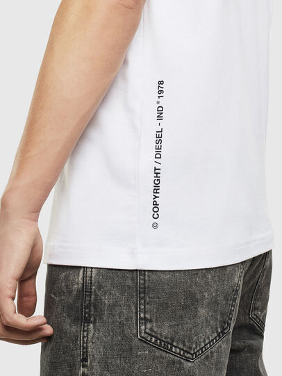 Diesel - T-JUST-T28, White - T-Shirts - Image 4