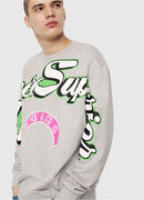 S-BAY-RADIO-PRINT, Light Grey - Sweaters