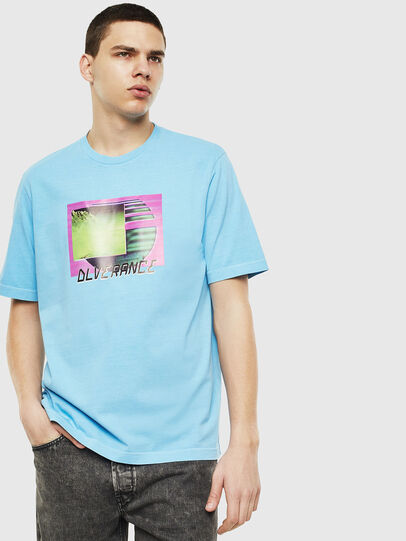 Diesel - T-JUST-NEON-S1, Azure - T-Shirts - Image 1