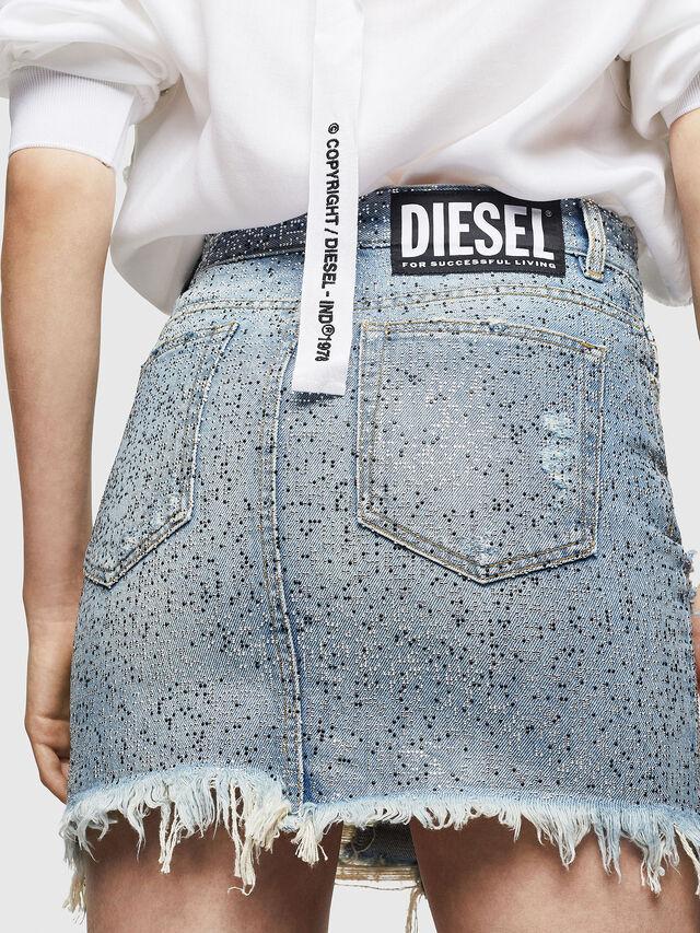 Diesel - DE-ELLE-S, Blue Jeans - Skirts - Image 2