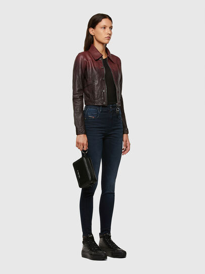 Diesel - L-SHAE, Dark Violet - Leather jackets - Image 6