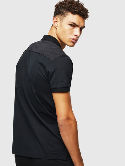 Diesel - T-POLPATCH, Black - Polos - Image 2