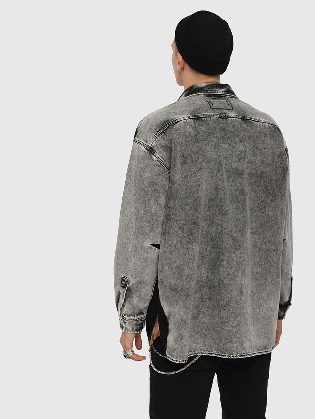 Diesel - D-LOREN, Black/Grey - Denim Jackets - Image 2