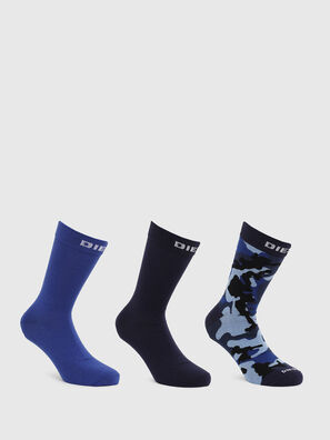SKM-HERMINE-THREEPAC, Blue/Black - Socks