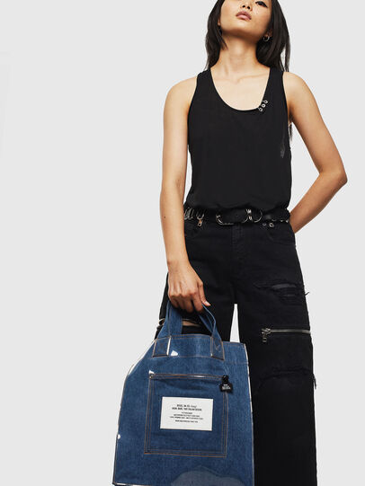 Diesel - F-THISBAG SHOWEI, Blue Jeans - Shopping and Shoulder Bags - Image 8