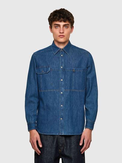 Diesel - D-MILLY-SP, Medium blue - Denim Shirts - Image 1