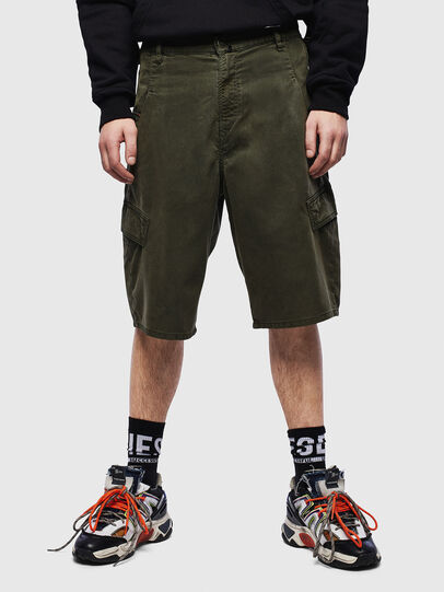 Diesel - D-KRETT-SHORT JOGGJEANS, Military Green - Shorts - Image 1
