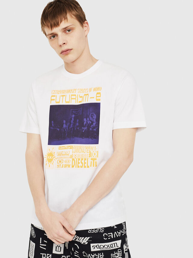 Diesel - T-JUST-Y16, White - T-Shirts - Image 1