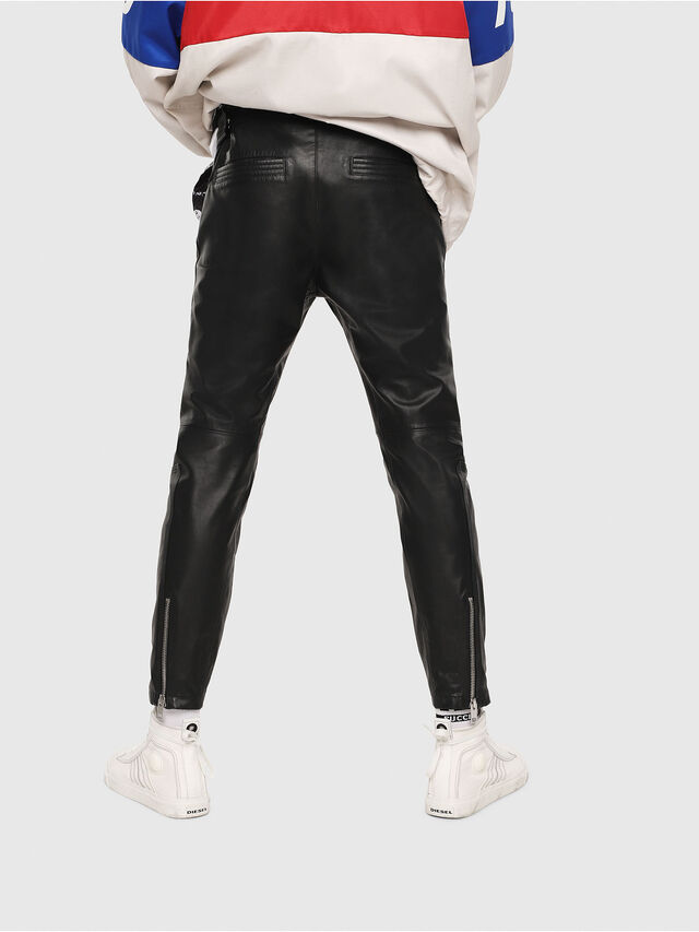 Diesel - P-ARDON, Black Leather - Pants - Image 2