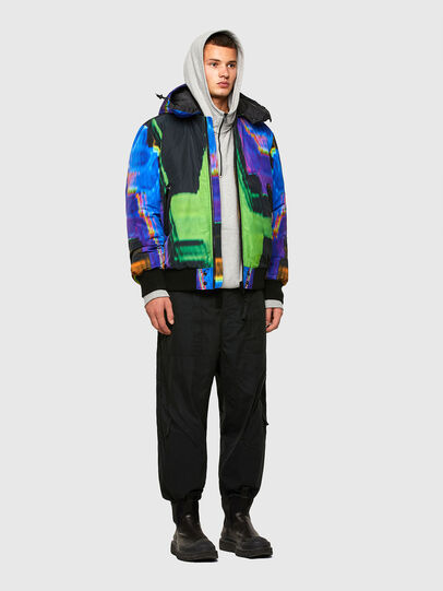 Diesel - W-ON-AOP, Blue/Green - Winter Jackets - Image 6