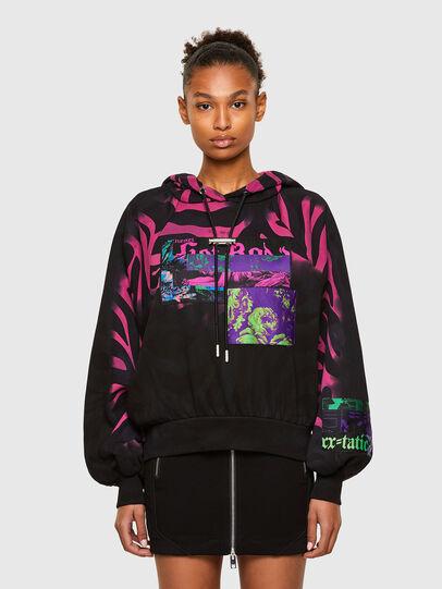 Diesel - F-BIORG, Black/Pink - Sweaters - Image 1