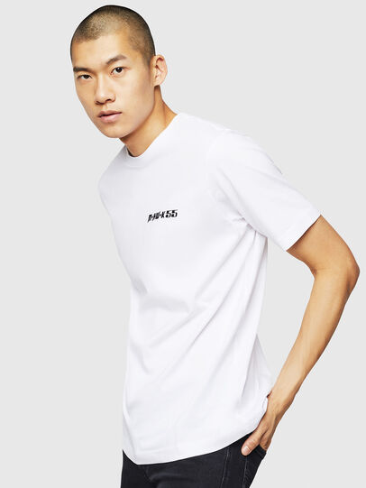 Diesel - T-JUST-B31, White - T-Shirts - Image 4