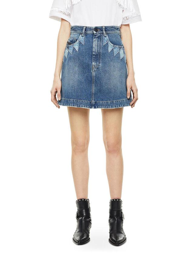 Diesel - OSSANA, Blue Jeans - Skirts - Image 1
