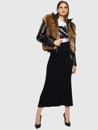 Diesel - L-BURG, Black - Leather jackets - Image 5
