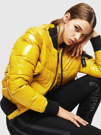 Diesel - W-ONY, Yellow - Winter Jackets - Image 5