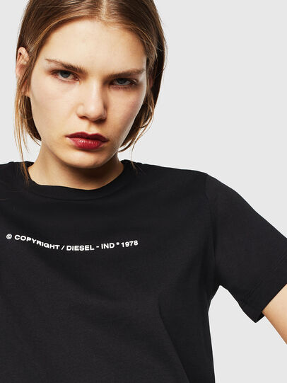 Diesel - T-SILY-COPY, Black - T-Shirts - Image 3