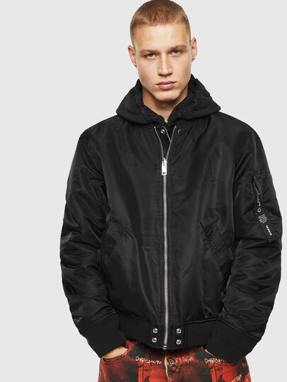 Diesel - J-ROSS-REV, Black - Jackets - Image 1
