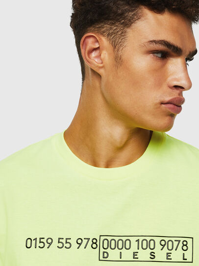 Diesel - T-DIEGO-SLITS-J6, Yellow Fluo - T-Shirts - Image 3