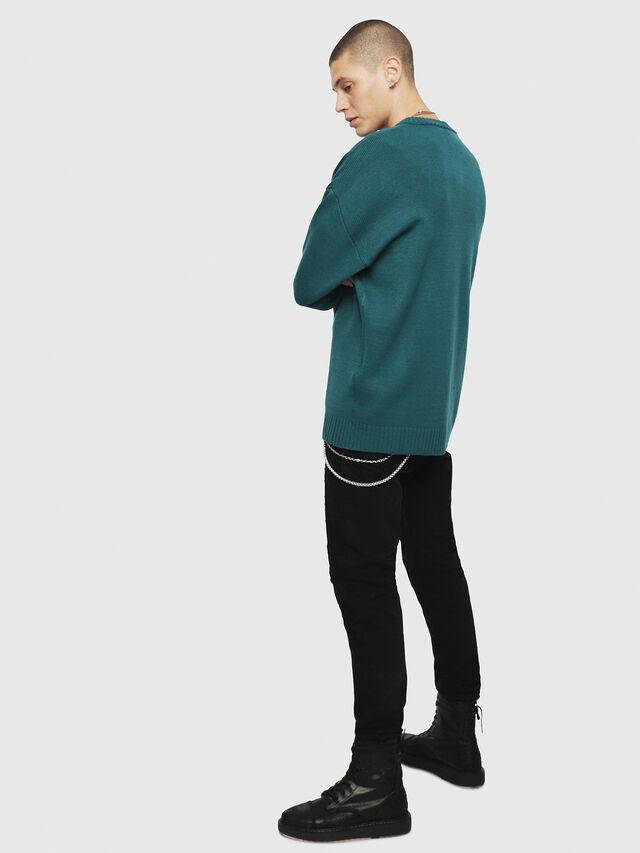 Diesel - K-LOGOX, Dark Green - Knitwear - Image 2