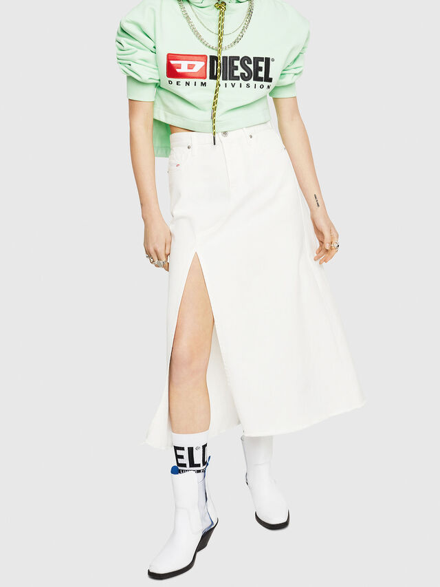 Diesel - DE-VYVIEN, White - Skirts - Image 1
