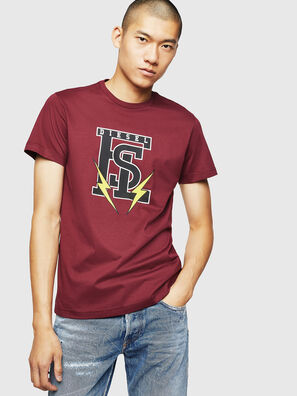 T-DIEGO-B3, Bordeaux - T-Shirts