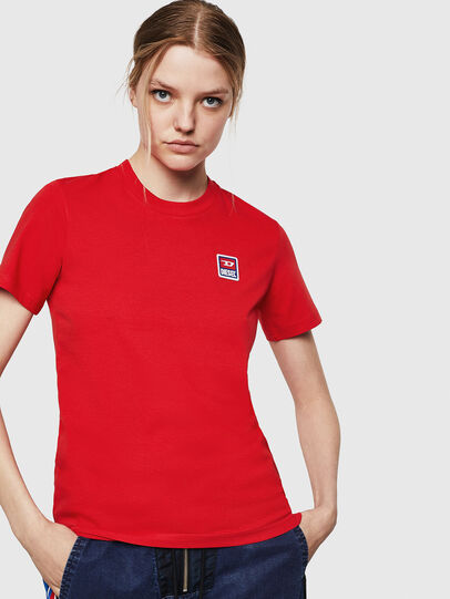 Diesel - T-SILY-ZE, Fire Red - T-Shirts - Image 1