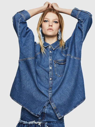 Diesel - DE-NOVA, Medium blue - Denim Shirts - Image 3
