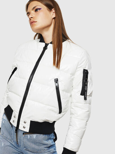 Diesel - W-ONY, White - Winter Jackets - Image 4