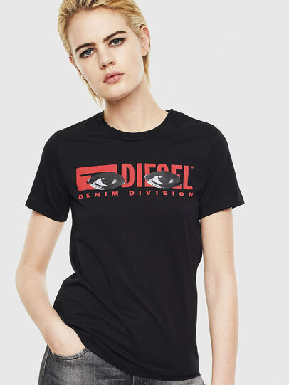 Diesel - T-SILY-YD, Black - T-Shirts - Image 1