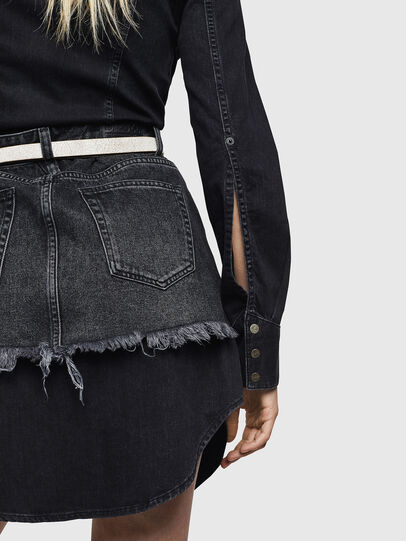 Diesel - DE-DARI, Black/Dark grey - Dresses - Image 5